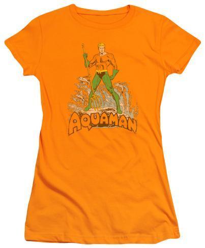 Juniors: Aquaman - Aquaman Distressed Womens T-Shirts