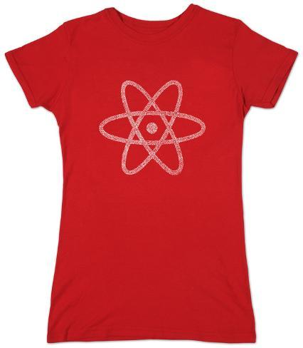 Juniors: Atom out of the Periodic Table Womens T-Shirts