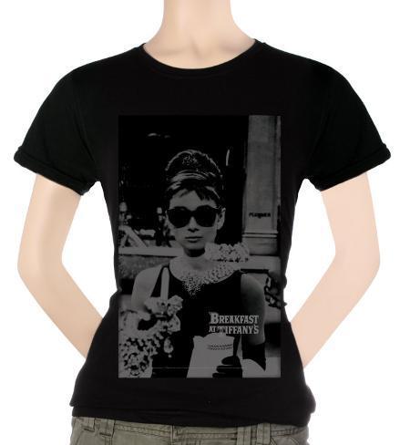Juniors: Audrey Hepburn - Faded Memory Womens T-Shirts