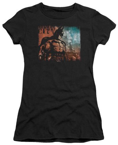 Juniors: Batman Arkham City - City Knockout Womens T-Shirts