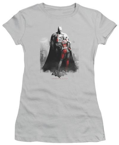 Juniors: Batman Arkham City - Harley and Bats Womens T-Shirts