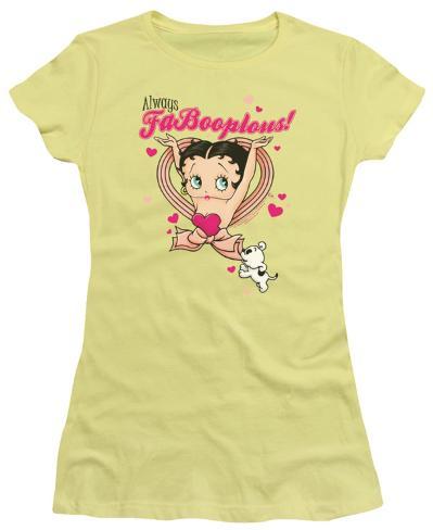 Juniors: Betty Boop - FaBooplous! Womens T-Shirts