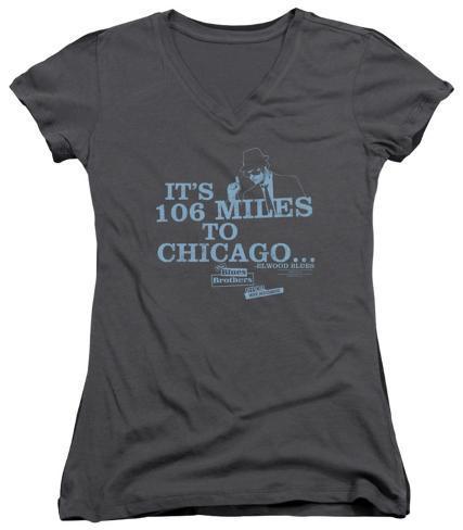 Juniors: Blues Brothers - Chicago V-Neck Womens V-Necks