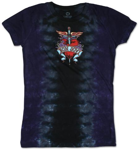 Juniors: Bon Jovi - Dagger Womens T-Shirts