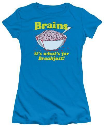 Juniors: Breakfast Time Womens T-Shirts