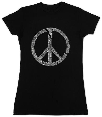 Juniors: Broken Peace Womens T-Shirts