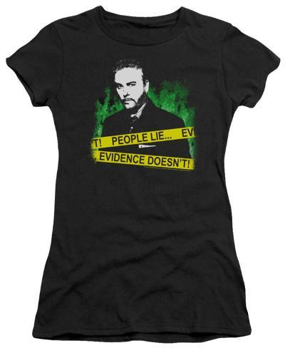 Juniors: CSI-People Lie Womens T-Shirts