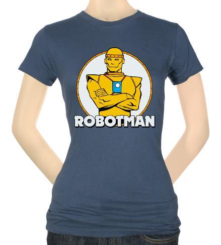 Juniors: DC-Robotman Womens T-Shirts