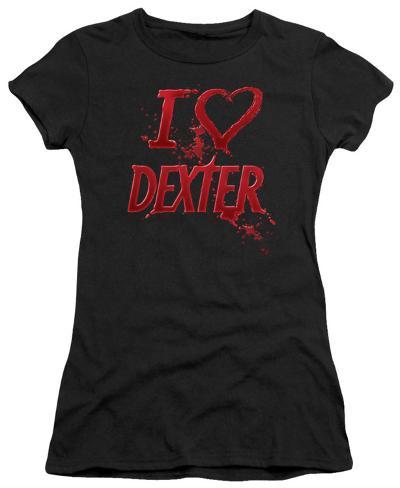 Juniors: Dexter - I Heart Dexter Womens T-Shirts
