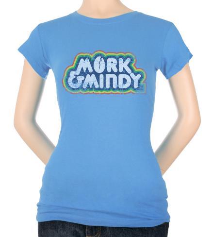 Juniors: Distressed Mork Logo Womens T-Shirts