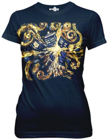 Juniors: Doctor Who - Van Gogh The Pandoric Opens Womens T-Shirts