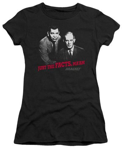 Juniors: Dragnet-Just The Facts Juniors (Slim) T-Shirt