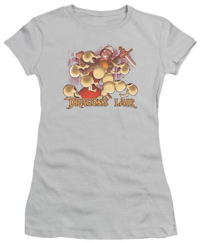 Juniors: Dragon's Lair - Get Off Me Juniors (Slim) T-Shirt