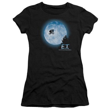 Juniors: E.T. The Extra Terrestrial - E.T. Moon Scene Womens T-Shirts