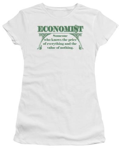 Juniors: Economist: Knows the Price Juniors (Slim) T-Shirt