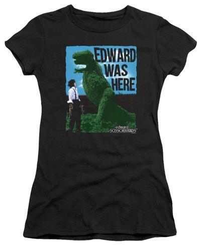 Juniors: Edward Scissorhands - Edward Was Here Womens T-Shirts