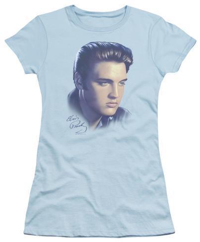 Juniors: Elvis - Big Portrait Womens T-Shirts