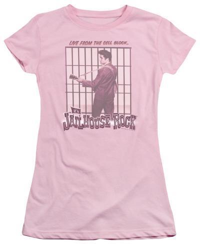 Juniors: Elvis - Cell Block Rock Womens T-Shirts