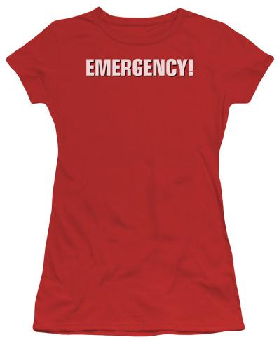 Juniors: Emergency - Logo Womens T-Shirts