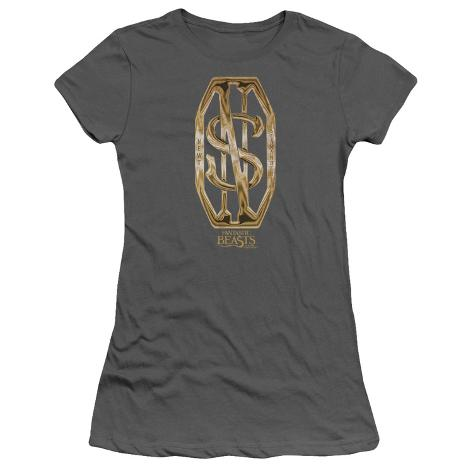 Juniors: Fantastic Beasts- Scamander Golden Monogram Womens T-Shirts