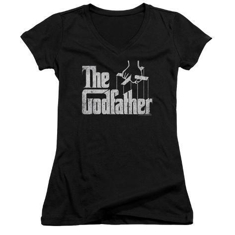 Juniors: Godfather- Logo V- Neck Womens V-Necks