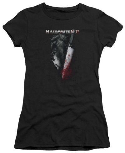 Juniors: Halloween II - Cold Gaze Womens T-Shirts