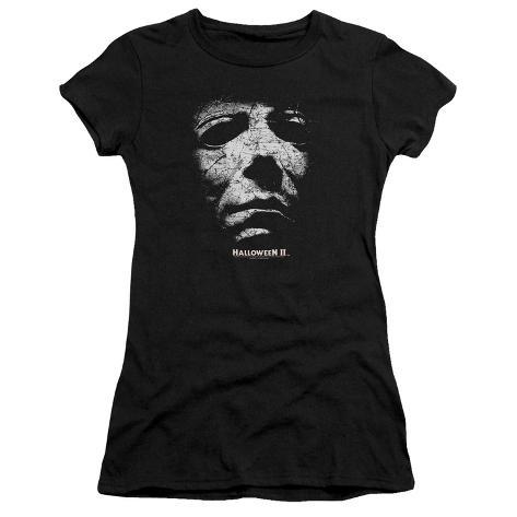 Juniors: Halloween II- Masked Kitty Womens T-Shirts