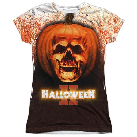 Juniors: Halloween II - Pumpkin Skull Womens Sublimated