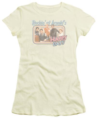 Juniors: Happy Days - Rockin' at Arnold's Womens T-Shirts