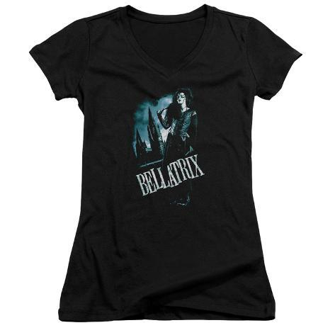 Juniors: Harry Potter- Bellatrix In Profile V-Neck Womens V-Necks