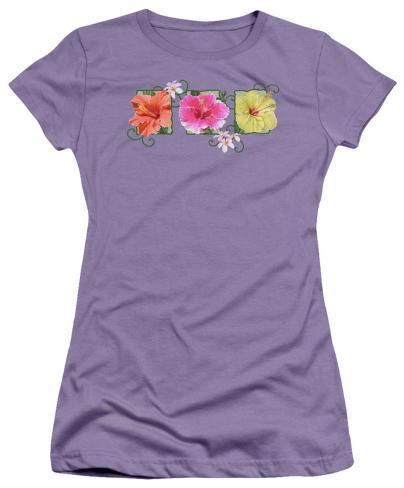 Juniors: Hibiscus Trio Womens T-Shirts