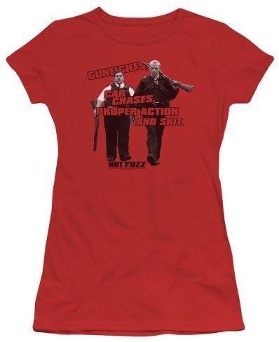 Juniors: Hot Fuzz - Days Work Womens T-Shirts