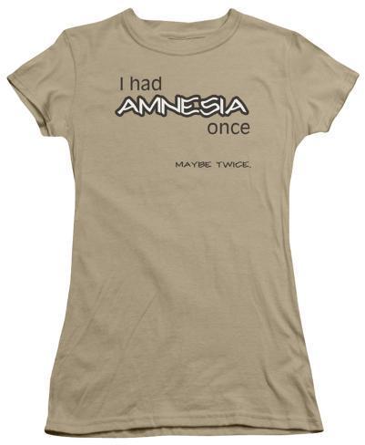 Juniors: I Had Amnesia Juniors (Slim) T-Shirt