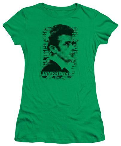 Juniors: James Dean - Against the Wall Womens T-Shirts