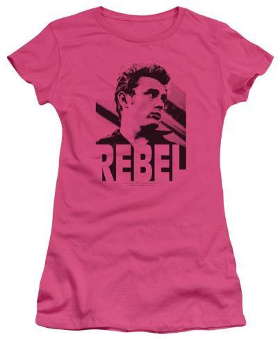 Juniors: James Dean-Rebel Rebel Womens T-Shirts