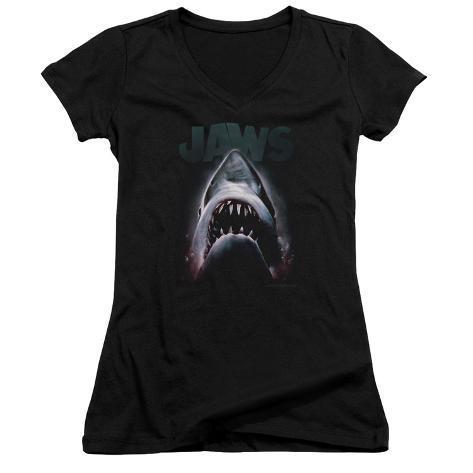 Juniors: Jaws - Terror In The Deep V-Neck Womens V-Necks