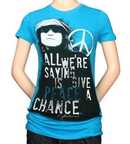 Juniors: John Lennon - Give Peace T-Shirt