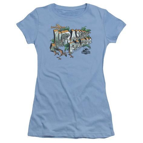 Juniors: Jurassic Park - Greetings From JP Womens T-Shirts