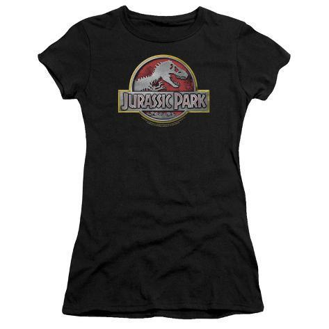 Juniors: Jurassic Park - Jurassic Park Logo Womens T-Shirts