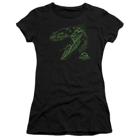 Juniors: Jurassic Park - Raptor Mount Womens T-Shirts