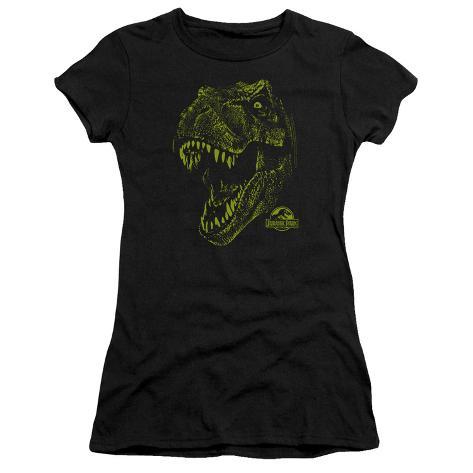 Juniors: Jurassic Park - Rex Mount Womens T-Shirts
