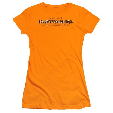 Juniors: Kleptomaniac Womens T-Shirts