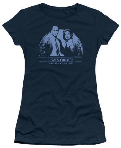 Juniors: Law & Order CI-Elliot&Olivia Womens T-Shirts