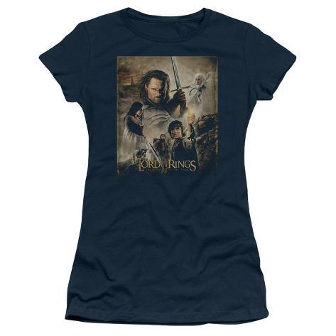 Juniors: Lord of the Rings - ROTK Poster Womens T-Shirts