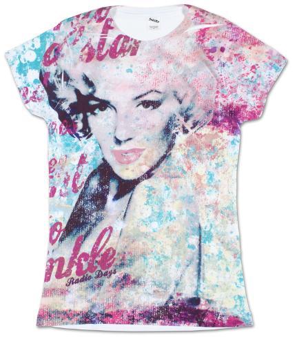 Juniors: Marilyn Monroe - Fancy Huh Womens T-Shirts