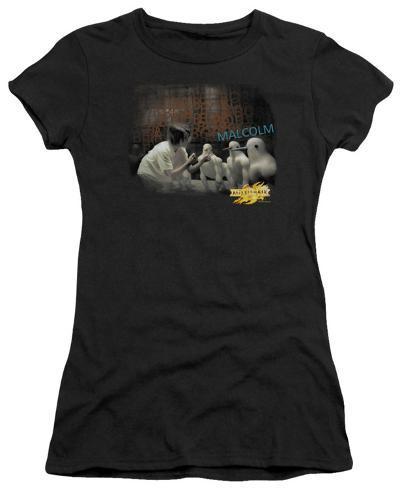 Juniors: Mirror Mask-Bob Malcolm Womens T-Shirts