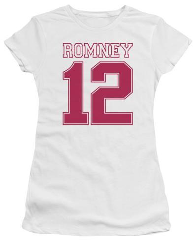Juniors: Mitt Romney - Romney 12 Juniors (Slim) T-Shirt
