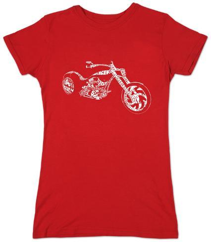 Juniors: Motorcycle Slang Terms Womens T-Shirts