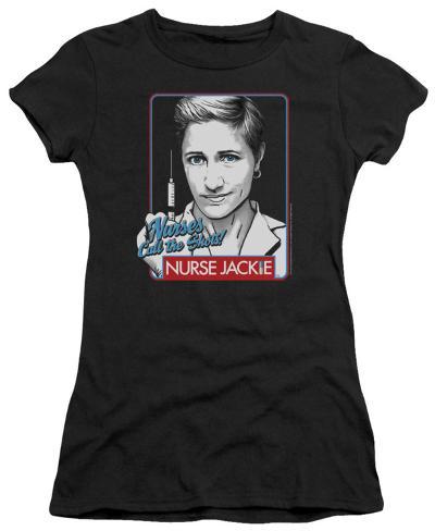 Juniors: Nurse Jackie - Nurses Call the Shots Womens T-Shirts