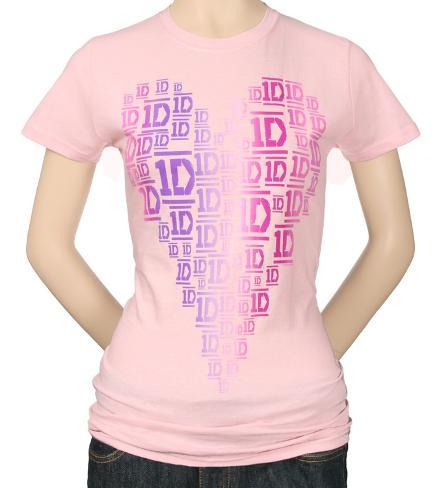 Juniors: One Direction - New Heart Womens T-Shirts